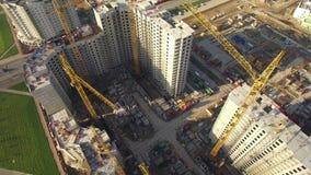 Widok z lotu ptaka ogromna budowa zbiory wideo