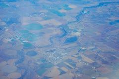 Widok z lotu ptaka okręgu wzór Obraz Royalty Free
