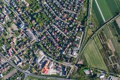 Widok z lotu ptaka Olesnica miasto zdjęcia stock
