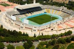 Widok z lotu ptaka Olimpic stadium Barcelona Hiszpania Obraz Royalty Free