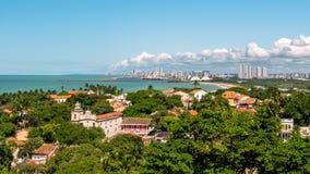 Widok z lotu ptaka Olinda i Recife w Pernambuco, Brazylia fotografia stock