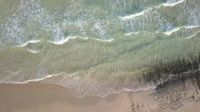Widok z lotu ptaka opustoszała plaża zbiory