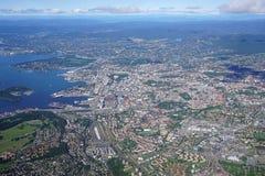 Widok z lotu ptaka Oslo teren w Norwegia Obraz Royalty Free