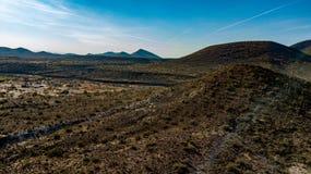 Widok Z Lotu Ptaka ostroga krzyża rancho regionalności parka jamy Pobliska zatoczka, Arizona zdjęcia royalty free