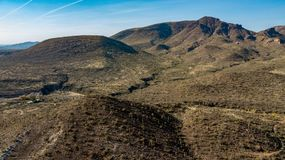 Widok Z Lotu Ptaka ostroga krzyża rancho regionalności parka jamy Pobliska zatoczka, Arizona fotografia stock
