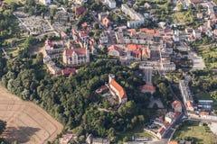 Widok z lotu ptaka Otmuchow miasteczko Fotografia Stock
