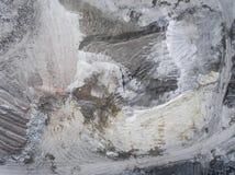 Widok z lotu ptaka otwartej jamy piasek w Polska Obraz Stock