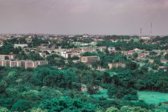 Widok z lotu ptaka Oyo rzędu stanowego sekretariat Ibadan Nigeria obrazy stock