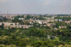 Widok z lotu ptaka Oyo rzędu stanowego sekretariat Ibadan Nigeria obrazy royalty free