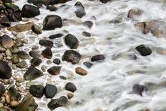 Widok Z Lotu Ptaka Północna Kalifornia Skalista plaża Zdjęcie Royalty Free