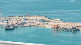 Widok z lotu ptaka Palmowy Jumeirah wyspy timelapse zbiory