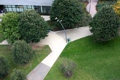 Widok z lotu ptaka park zdjęcia royalty free