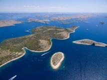 Widok z lotu ptaka park narodowy Kornati Zdjęcie Stock