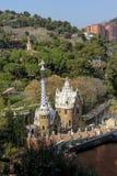 widok z lotu ptaka Parkowy GÃ ¼ ell, Barcelona Zdjęcie Stock
