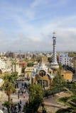 widok z lotu ptaka Parkowy GÃ ¼ ell, Barcelona Fotografia Stock