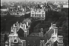 Widok z lotu ptaka Paryż, Francja, 1940s zdjęcie wideo