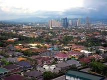 Widok z lotu ptaka Pasig, Marikina i Quezon miasto w Filipiny, Azja Obrazy Royalty Free