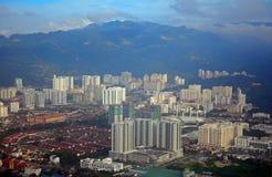 Widok z lotu ptaka Penang, Malezja Zdjęcia Royalty Free
