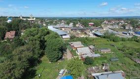 Widok z lotu ptaka Pereslavl-Zalessky miasto Obrazy Stock