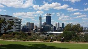 Widok z lotu ptaka Perth miasto Zdjęcie Stock