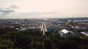 Widok z lotu ptaka Petersburg miasto zbiory wideo