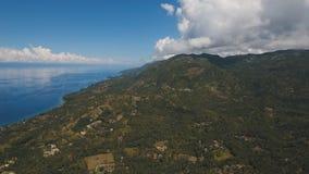 Widok z lotu ptaka piękna linia brzegowa na tropikalnej wyspie Filipińska Cebu wyspa Obrazy Royalty Free
