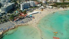 Widok z lotu ptaka piękna plaża Śródziemnomorski zbiory