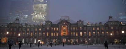 Widok z lotu ptaka piękny nocy miasta głąbik, Japonia obrazy royalty free
