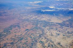 Widok z lotu ptaka piękny Olathe pejzaż miejski fotografia stock