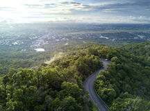 Widok z lotu ptaka, Piękna droga na górze w Chiang mai, Tajlandia Obraz Royalty Free