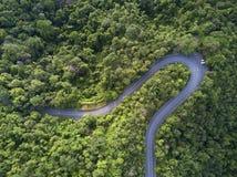 Widok z lotu ptaka, Piękna droga na górze w Chiang mai, Tajlandia Obraz Stock