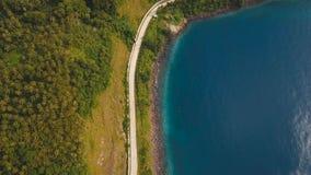 Widok z lotu ptaka piękna linia brzegowa na tropikalnej wyspie Camiguin wyspa Filipiny Fotografia Stock