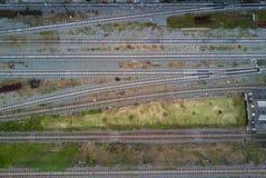 Widok z lotu ptaka, Piękna stacja kolejowa w Chiang mai, Tajlandia Fotografia Stock