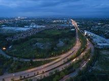 Widok z lotu ptaka, Piękna wysoka sposób ulica w Chiang mai, Tajlandia Zdjęcie Royalty Free