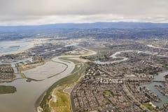 Widok z lotu ptaka piękny Przybrany miasto blisko San Fransisco Obrazy Stock
