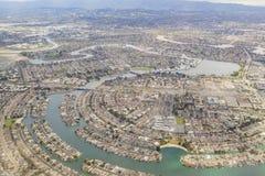Widok z lotu ptaka piękny Przybrany miasto blisko San Fransisco Obrazy Royalty Free