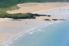 Widok z lotu ptaka piasek plaża fotografia stock