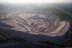 Widok z lotu ptaka piaskowcowy łup Obrazy Stock