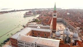 Widok z lotu ptaka piazza San Marco blisko bazyliki zbiory