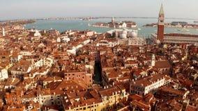 Widok z lotu ptaka piazza San Marco blisko bazyliki zbiory wideo