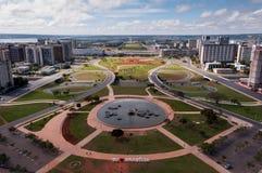Widok z lotu ptaka Pilotowy plan Brasilia miasto zdjęcie stock