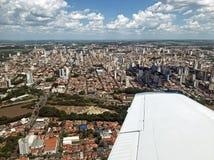 Widok z lotu ptaka Piracicaba SP Brazylia obraz stock