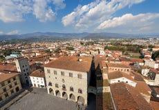 Widok z lotu ptaka Pistoia Tuscany Włochy obraz royalty free