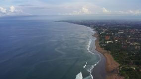Widok z lotu ptaka pla?a w Bali, Indonezja zbiory