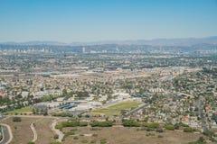 Widok z lotu ptaka Playa Del Rey teren Zdjęcia Stock