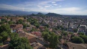 Widok z lotu ptaka Plovdiv, Bułgaria obraz royalty free