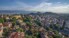Widok z lotu ptaka Plovdiv, Bułgaria zdjęcie royalty free