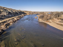 Widok z lotu ptaka Południowego Platte rzeka Zdjęcie Stock
