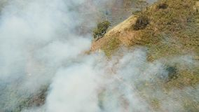 Widok z lotu ptaka pożar lasu Jawy wyspa, Indonezja zbiory wideo