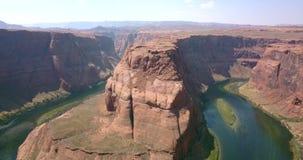 Widok z lotu ptaka podkowa chył w Arizona zdjęcie wideo